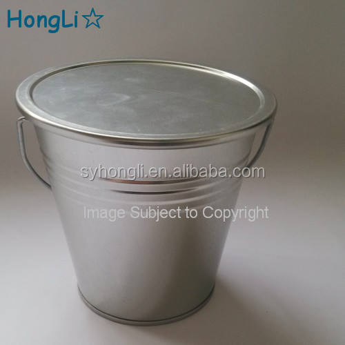 "4"" Wedding Party Favors Galvanized Iron Bucket / Galvanized Iron Pail with Lid and Handle"