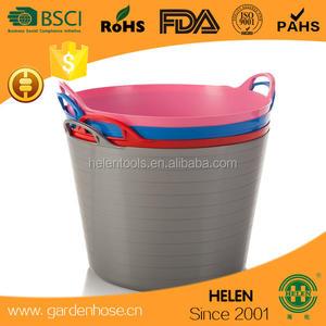 DARK BLUE Set of 3. Robust Flexible Storage Container Bucket simpahome 42L 42 Litre Large Multi Purpose Flexi Tub