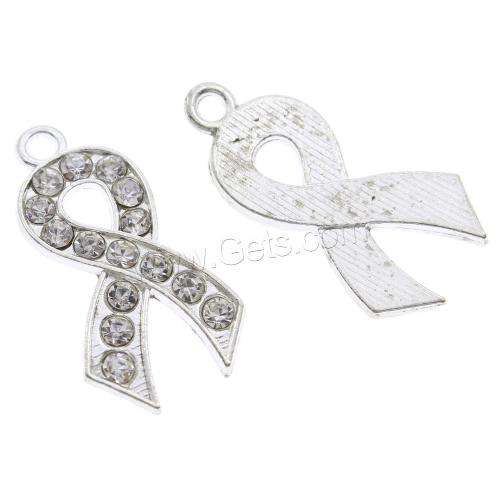 New awareness autism breast cancer pregnancy and infant loss Ribbon Pendant Zinc Alloy platinum color 1106014