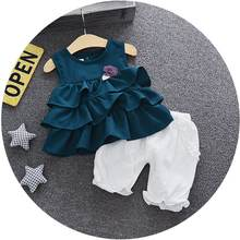 Factory high quality summer cheap newborn baby children's clothing set with Chinese manufacturer