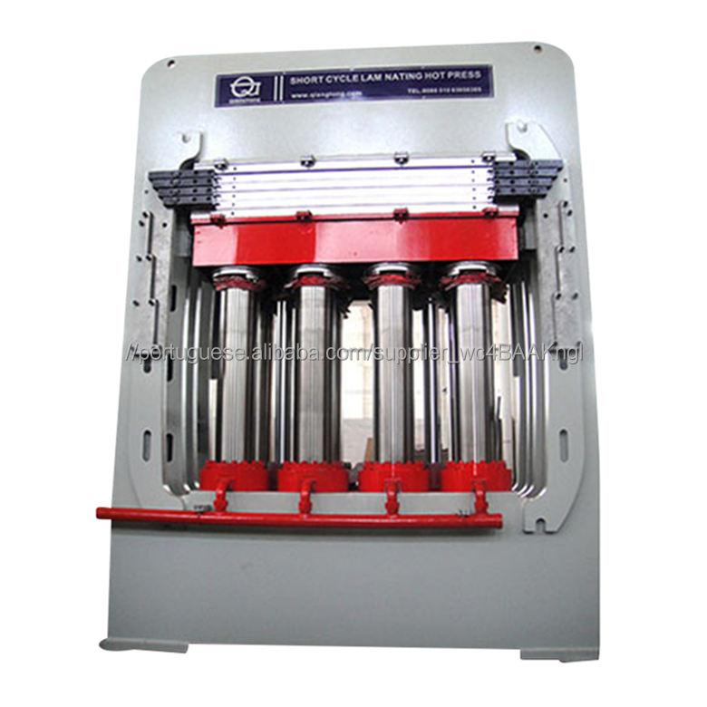 Oor máquina da imprensa da pele/pele da porta do HDF melamina imprensa quente/porta De Madeira que faz a máquina