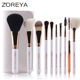 2019 ZOREYA 10pcs make up brushes wholesale China kabuki brush set