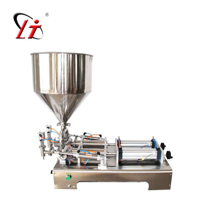 G2WG ointment filling machine hopper paste filler machine semi auto filling double heads cylinders piston filler