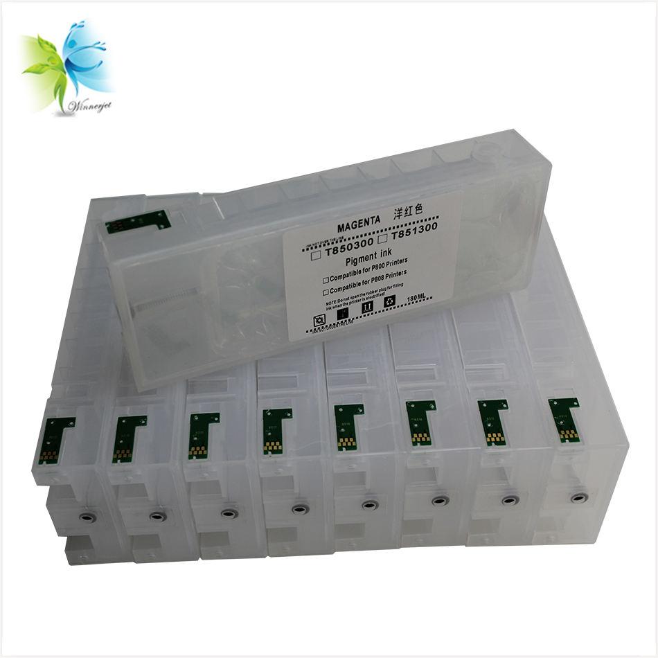9colors T8501-T8509  Ink Cartridge ARC Chip For  SureColor P800 SC-P800 printer