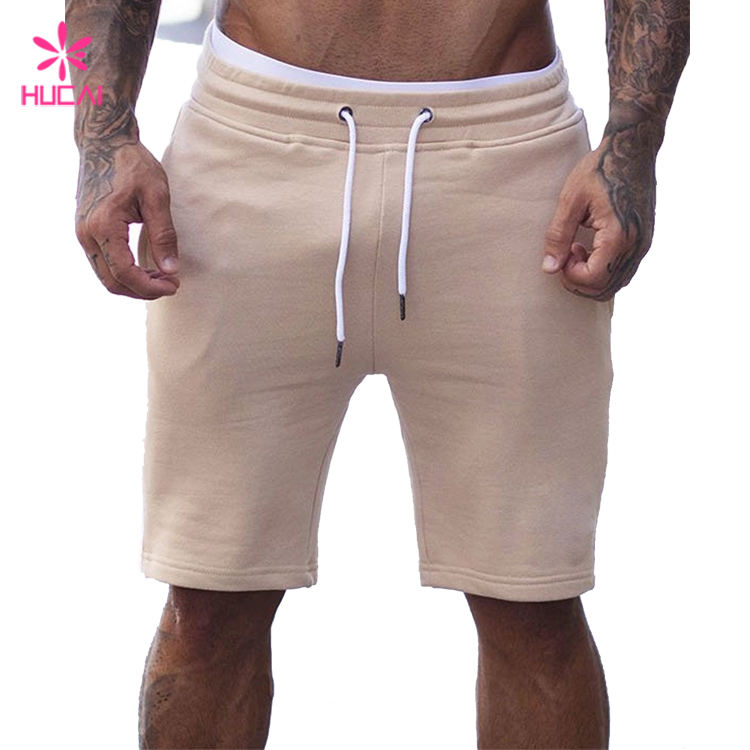 Custom Cotton Polyester Jersey Pants Slim Fit Mens Track Shorts