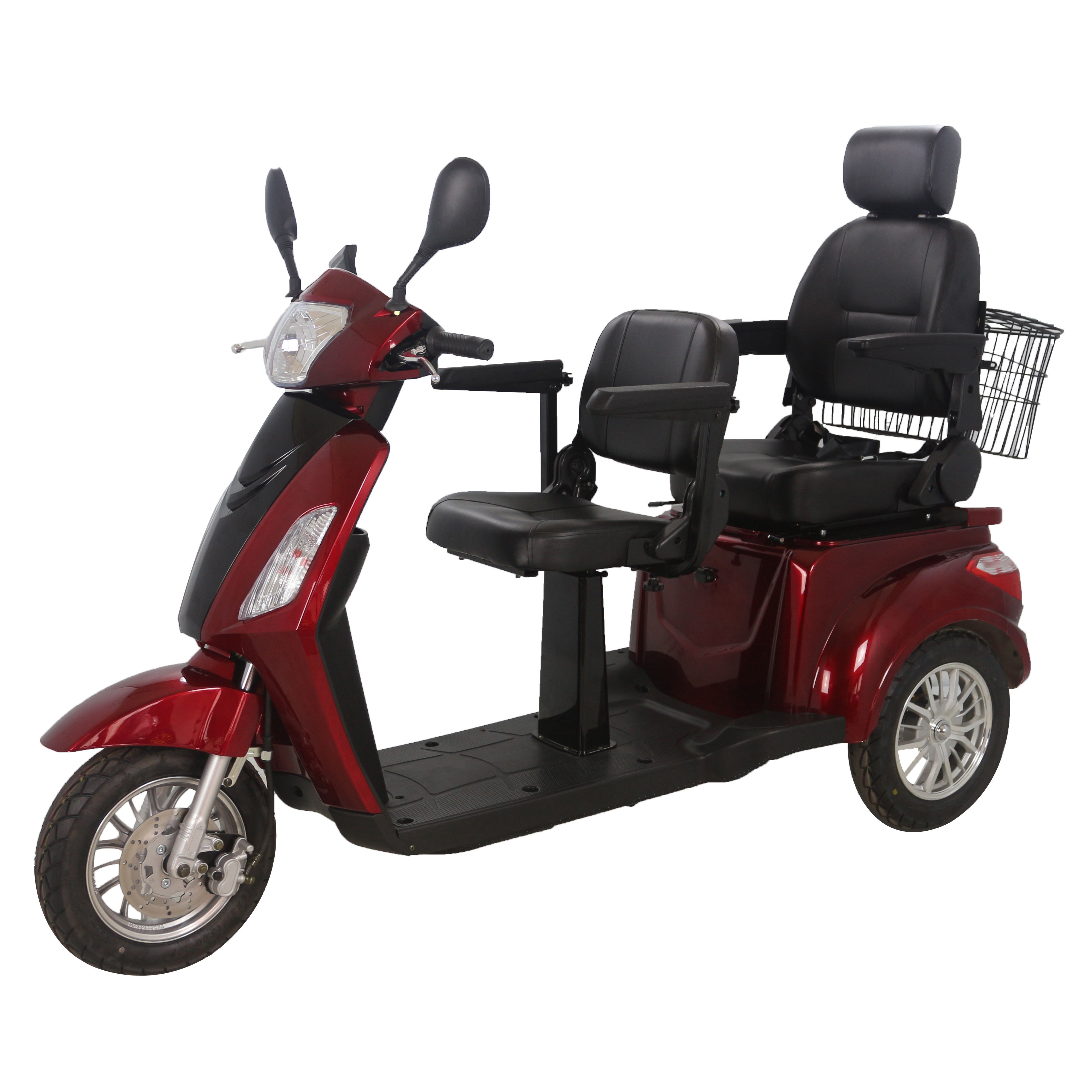 Adult electric motorcycle three wheel vehicles 60V500W scooter for sale tricycles