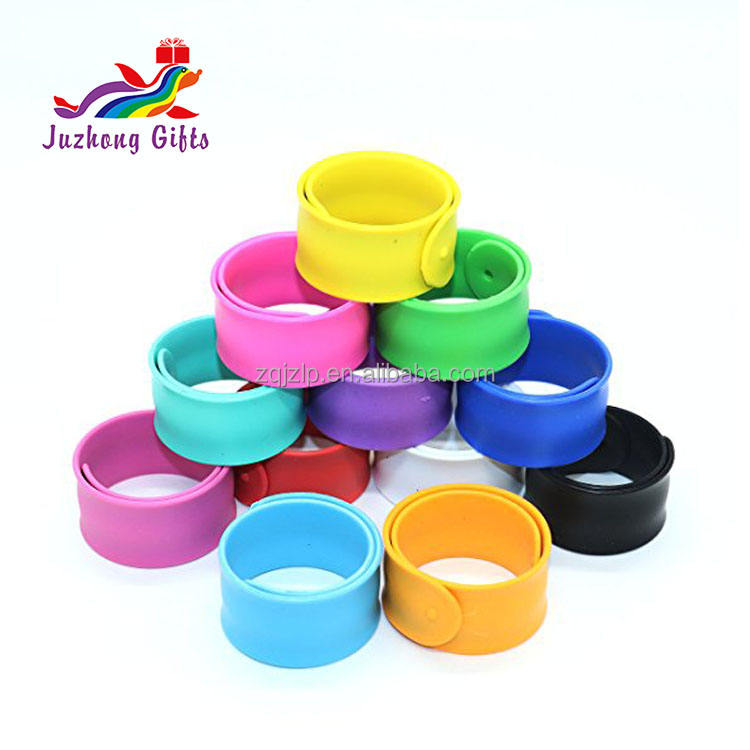 Color Full Print Bulk Slap Snap Band Cheap Silicon Slap Wristbands Slap Band