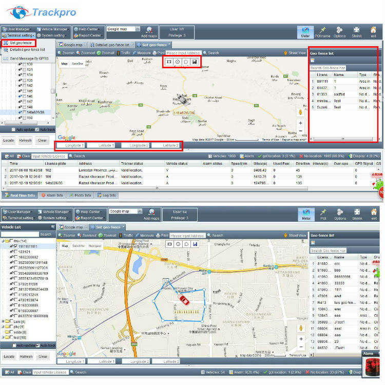 Mobiele telefoon locator online GPS Tracking Software voor gps tracker rfid camera