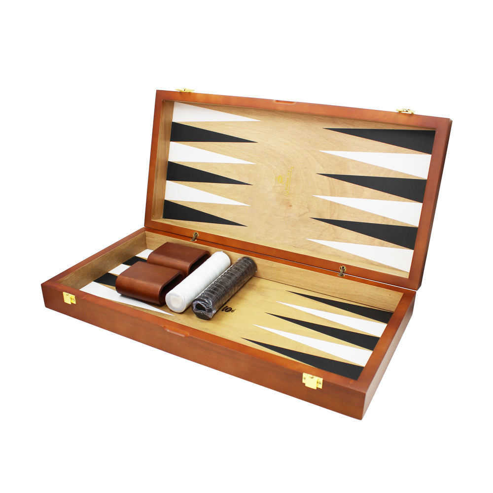 Matte Lacquer Custom Game Set Wooden Backgammon,Carved Backgammon