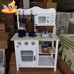 New design baby wooden toy kitchen funny kids wooden toy kitchen best children wooden toy kitchen W10C045 White