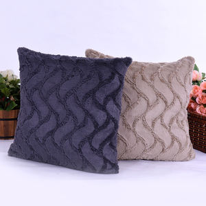 Atacado confortável e decorativos PV fleece throw pillow sofá