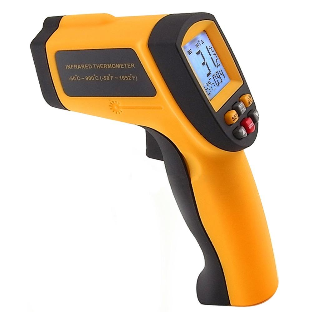 draagbare infrarood ir-thermometer 12:1 ds pyrometer 0.10~0.99 em