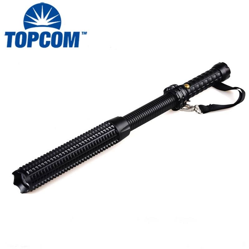 Safety Hammer self defense strobe flash light telescopic baton light SOS