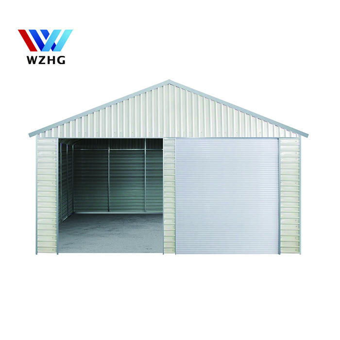 20*20ft temporary canopy car shed , prefab steel structure garage storage metal shed garden for sale