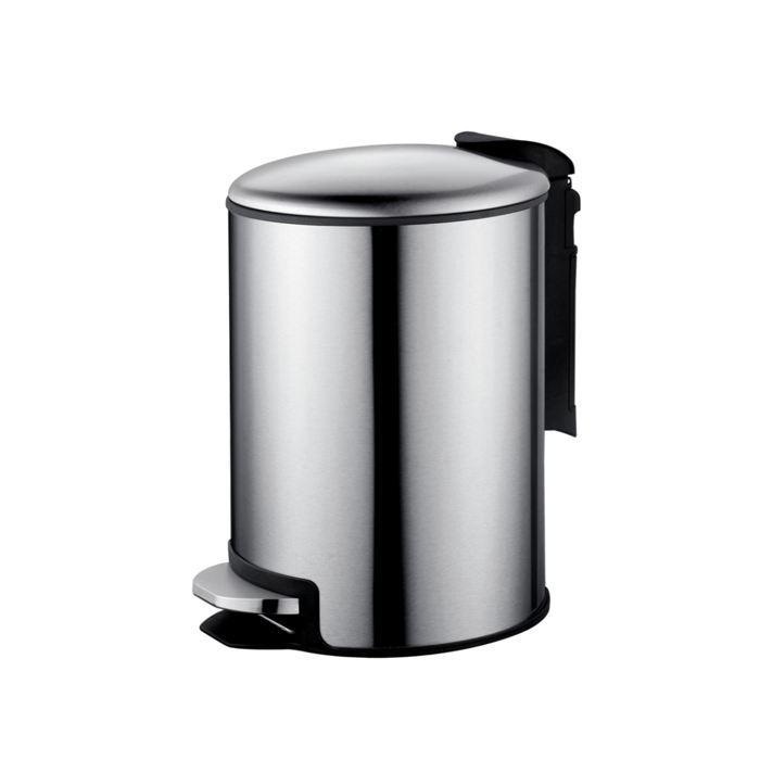 Household eco-friendly 5/12/30 Litres round ss pedal trash waste bin for bathroom