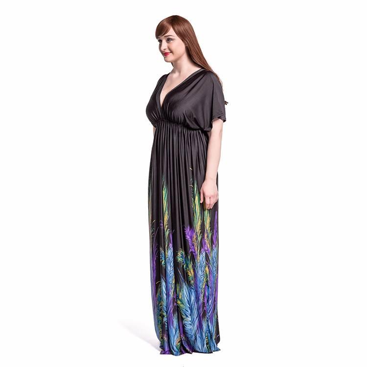 새로운 태국 긴 맥시 비치 드레스