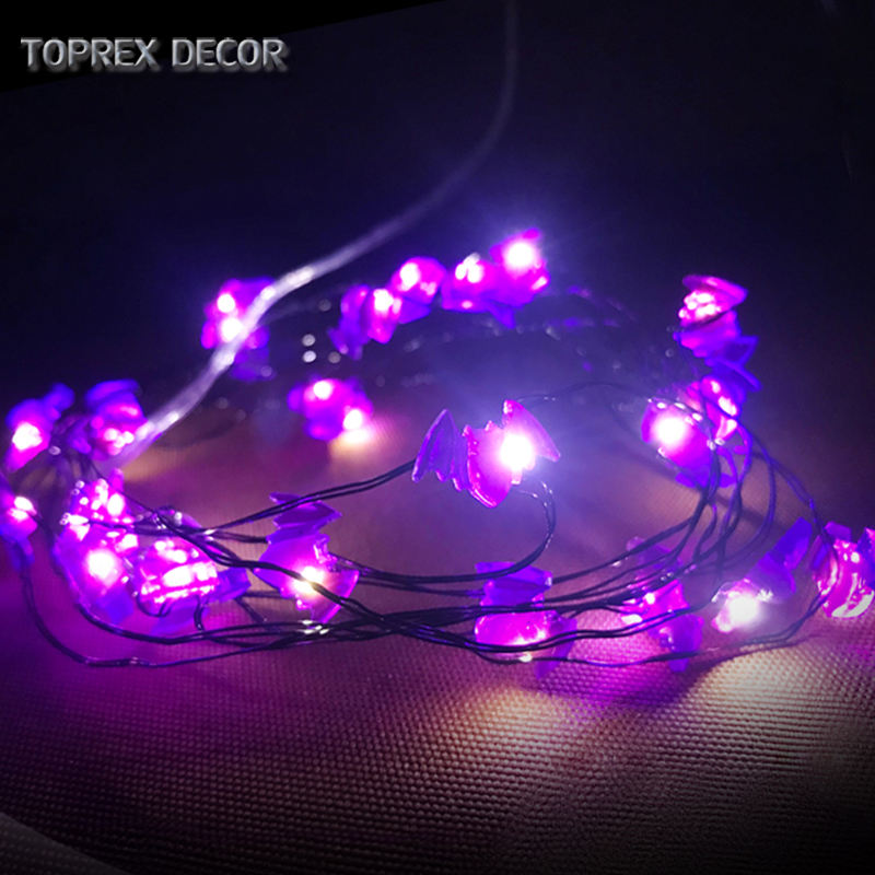 TOPREX DECOR 새 product ideas 2019 3 M 30 의 Led 짜증 Mini Copper Wire 배트 String 등 대 한 할로윈