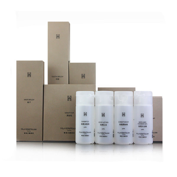 Hotel Amenities Set With Logo