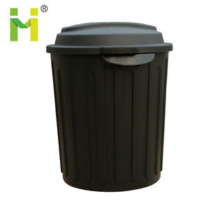 70L Round plastic storage bin with locking lid