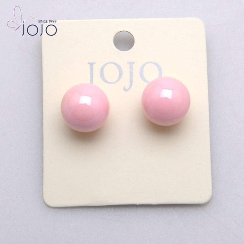 Cheap Cute Small Acrylic Ball Stud Earring 2017