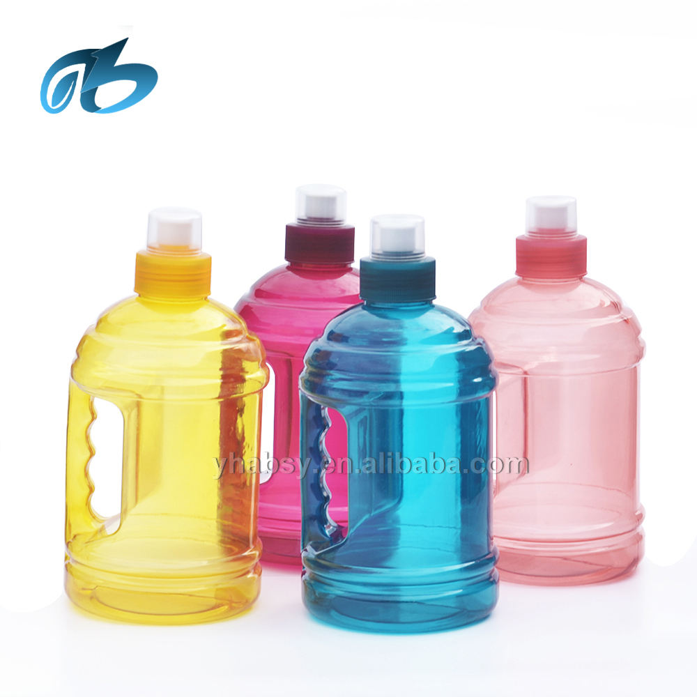 China factory cool gym water jug 2.2 water bottle 1l plastic jug with side handle