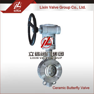 China supplier custom sandwich butterfly valve wafer connection type CF8 dn600 ceramic butterfly valve for oil