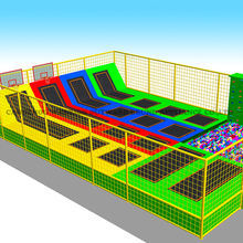 2019 China kids soft play indoor and outdoor trampoline park