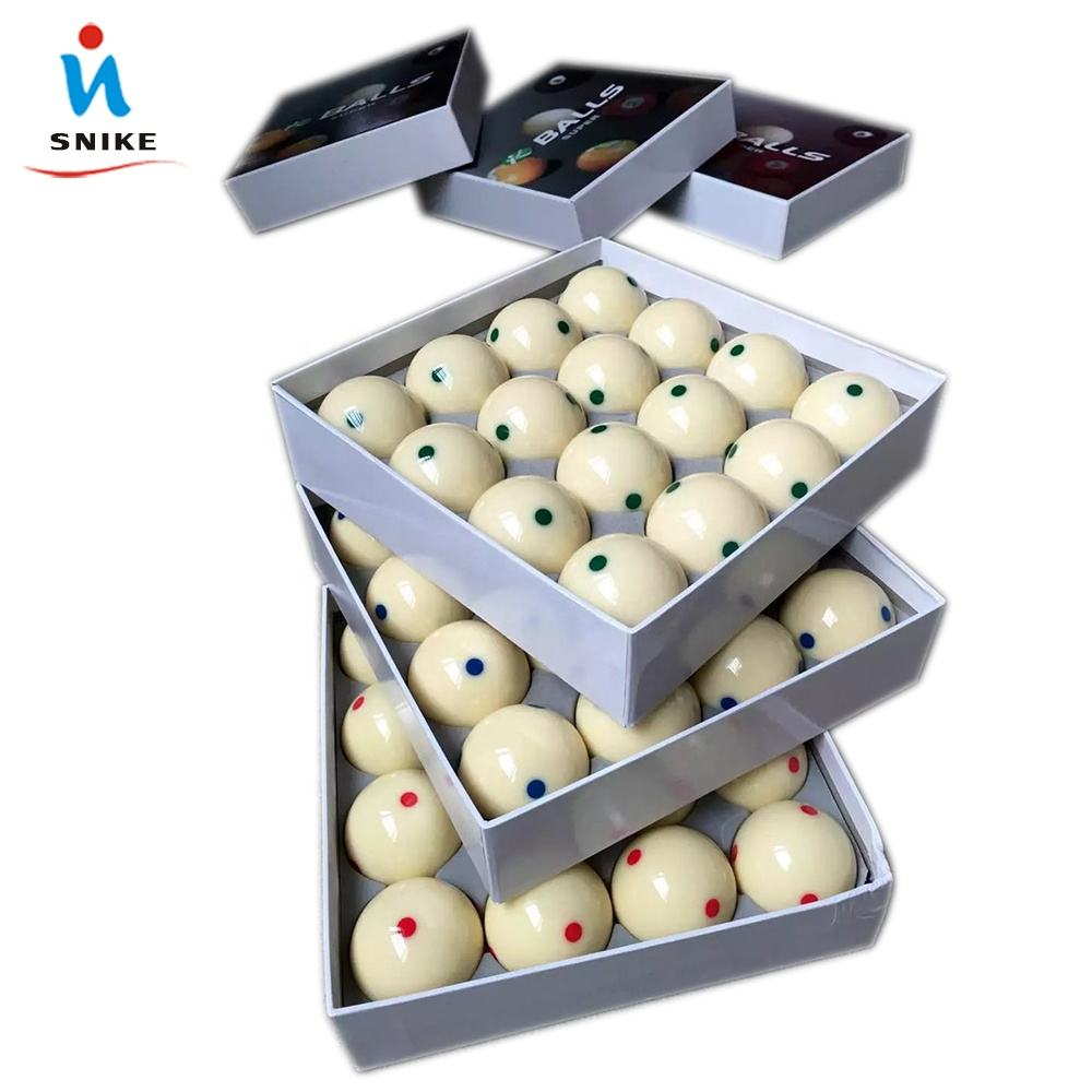 Product taiwan 6 red Dot white mum ball and cue balls for pool table