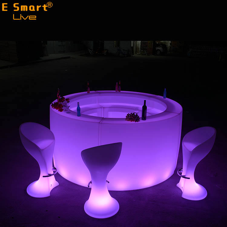 PE led bar Bar Meubels Glow led bar tafel led cocktail tafels