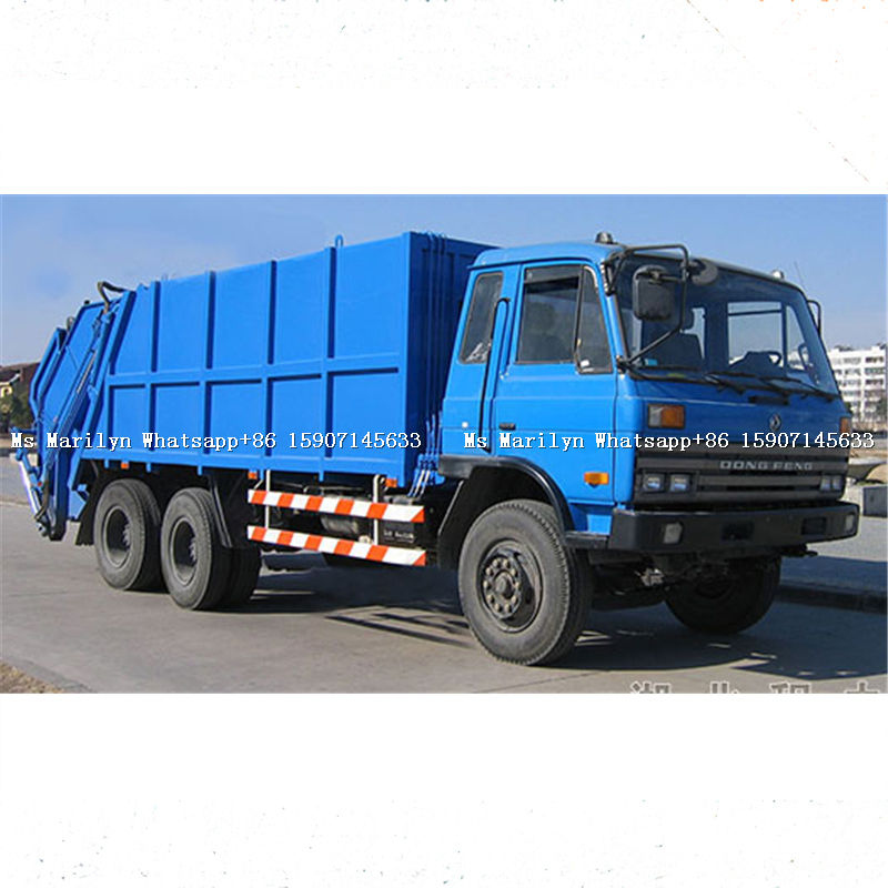 dongfeng 6x4 compressor garbage truck of 15cbm volume