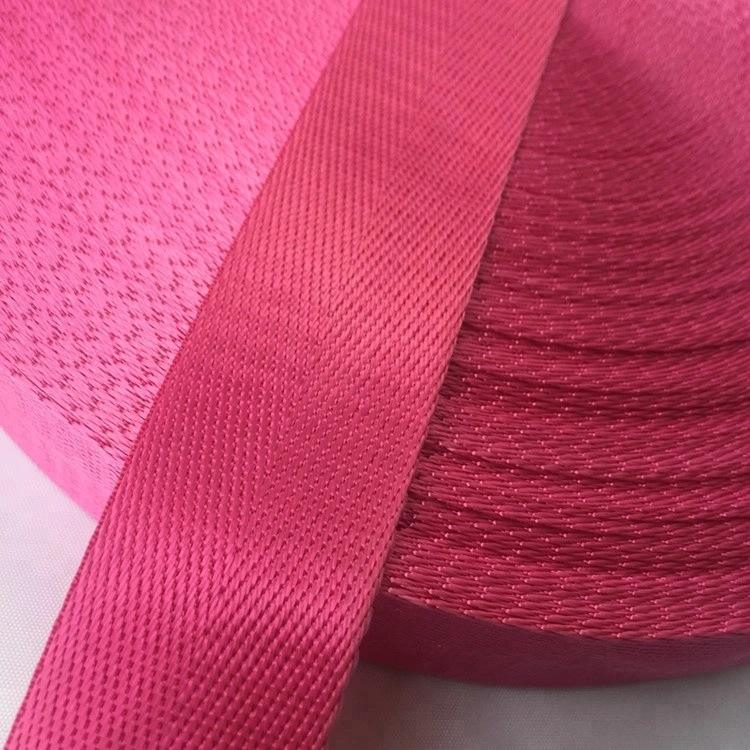 Herringbone Polyester Belt Woven Bag Accessories Strap Nylon Webbing For Buckle Bag