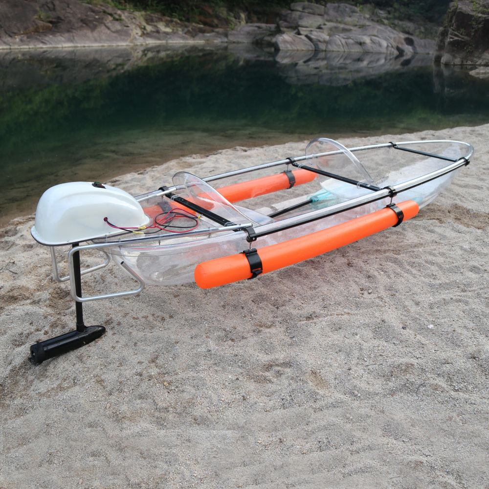 Kinocean China New Cool Sea Glass Kayak with motor
