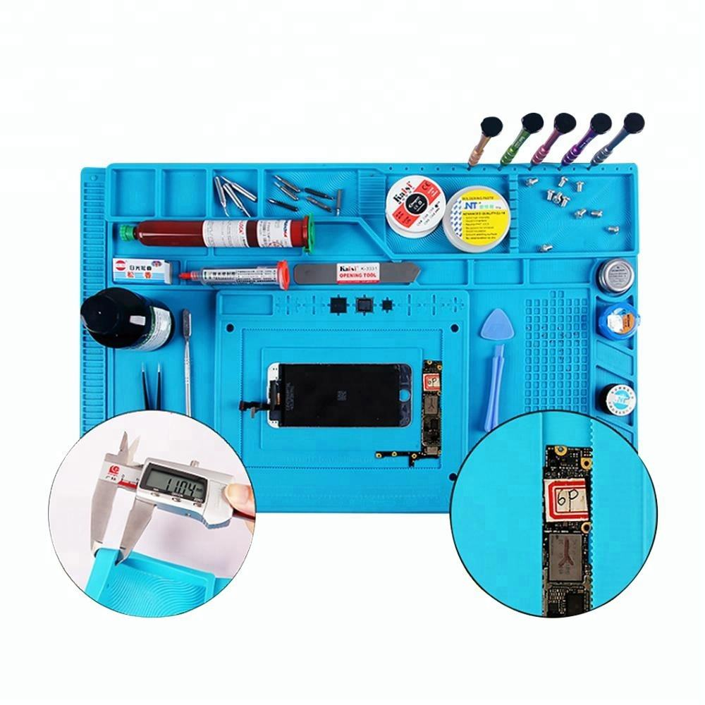 New Products Magnetic Heat Insulation Screw Repair Tools Pad Desk Mat Watch Cellphone Soldering Silicone Repair Mat