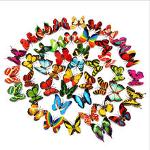 Colorful 3D Butterfly Wall decal Stickers artificial butterfly floral picks Removable Mural Stickers