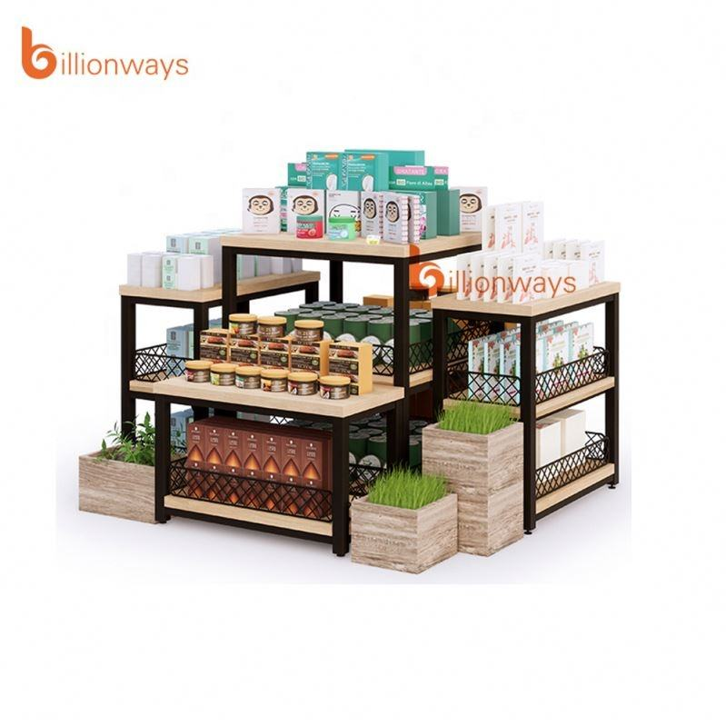 Eco-friendly Food Grade Commercial Gondola Shelving for Retail