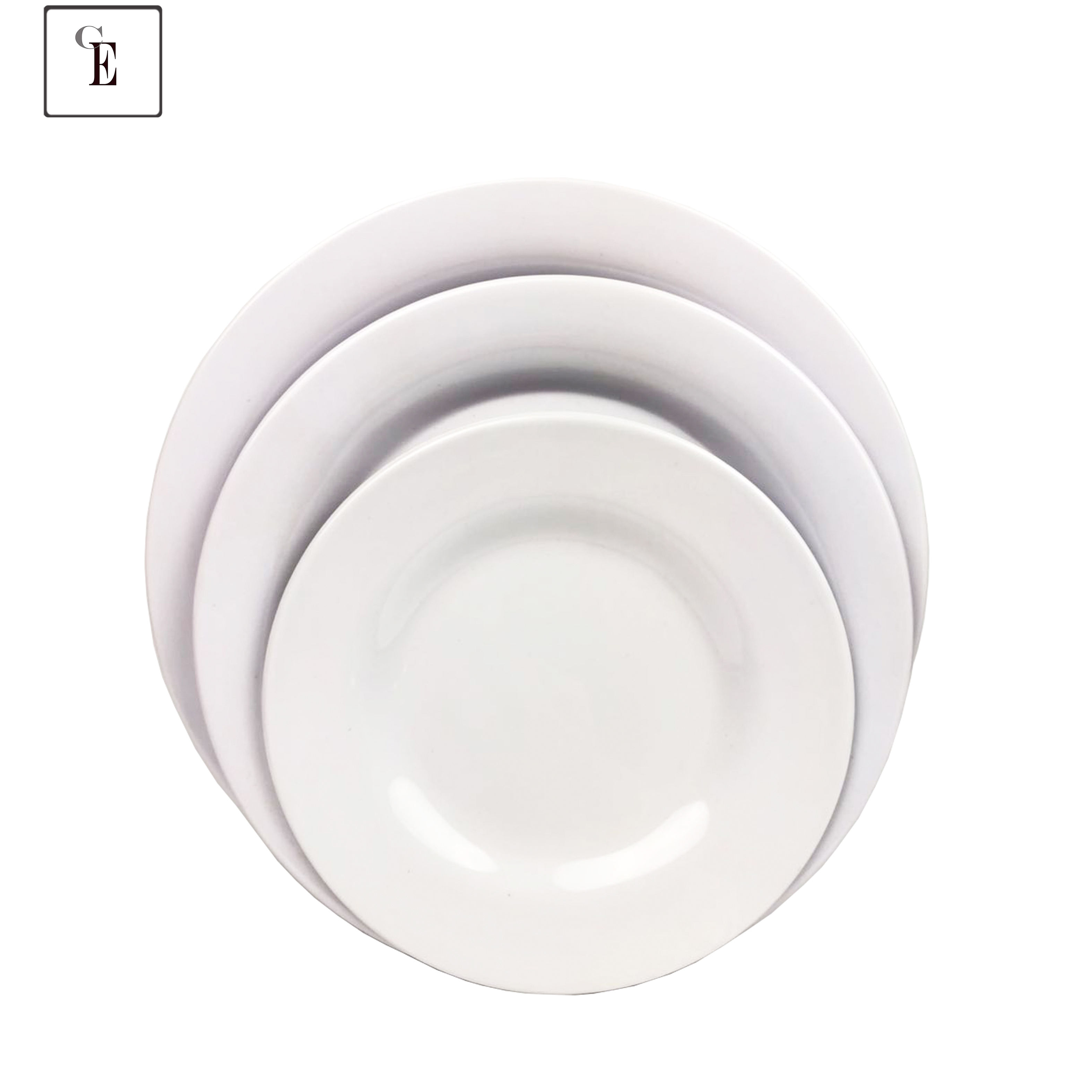 Food Grade Wholesale Plastic Melamine Dish Disposable Round 5 ps Plastic Plate