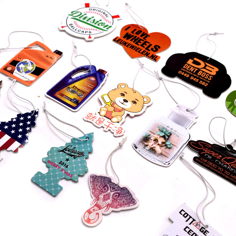 2019 hot selling different perfume car air freshener with different shape