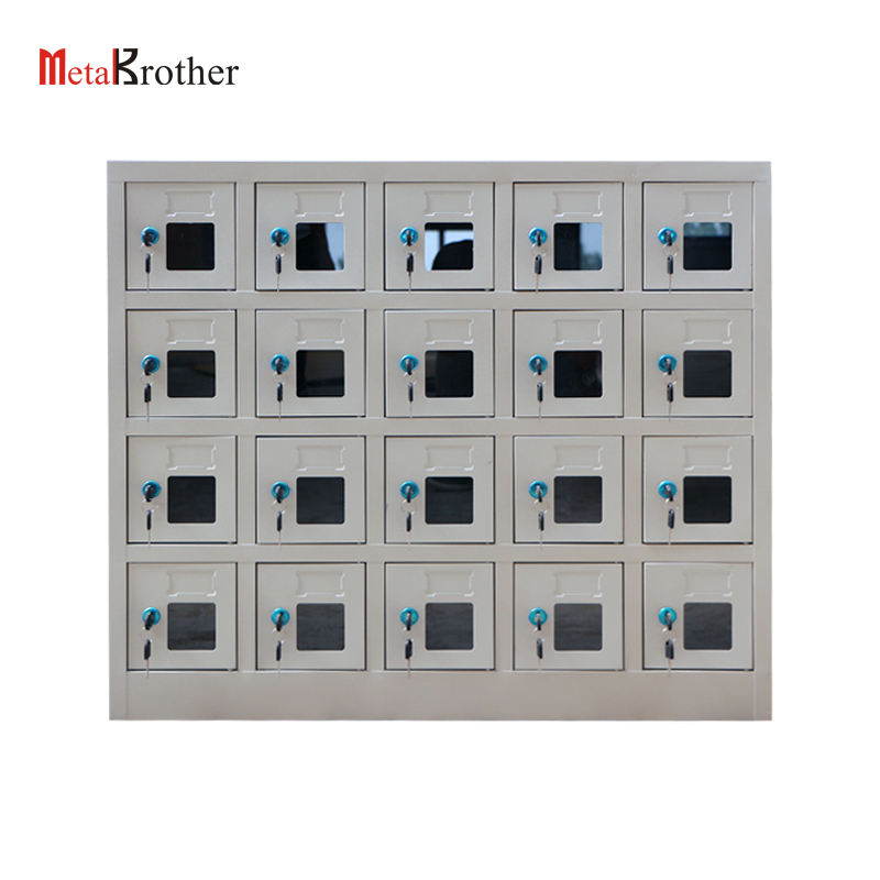 20 Doors Cell Phone Charging Station Lockers Metal Mobile Cell Phone Charger Locker Storage Cabinet Safe Parcel Box With Lock