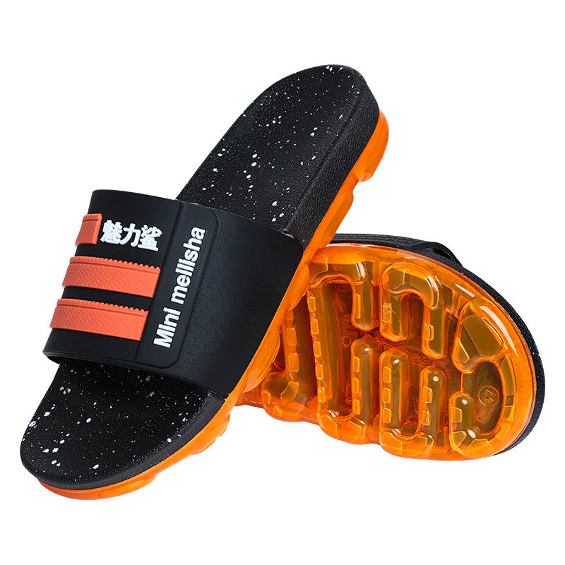 Mini Meilisha latest cool pvc men air cushion slides slipper sport leather gents sandals and slippers