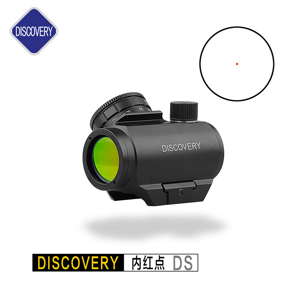 Discovery Optics 1X25 DS Red Dot Sight-Optionele Picatinny Riser Mount voor Cowitness met Ijzer Bezienswaardigheden-2 MOA Compact Rode Dot