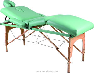 white Wooden hydraulic massage table