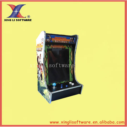 19 inch LCD Mini King kong (Verical) Cocktail Mesin Dengan permainan Klasik 60 di 1 Game PCB/bartop arcade mesin