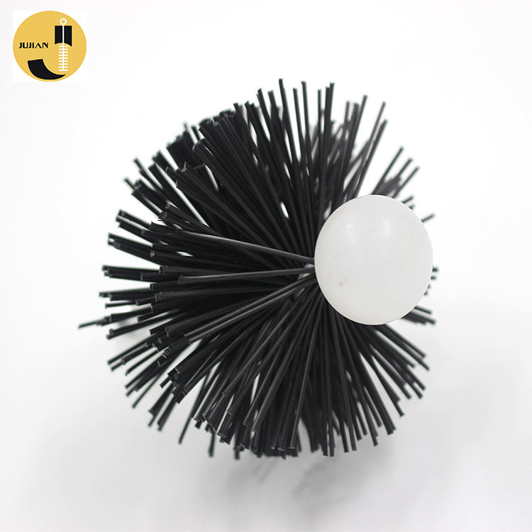 4 Inch Fireplace Flexible Handle Pellet Pvc Round Chimney Stove Cleaning Brush
