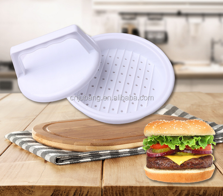Hot sales hamburger Vlees druk/Ronde Shaper Mold Plastic Rundvlees Burger/DIY Vlees Druk Burger Druk
