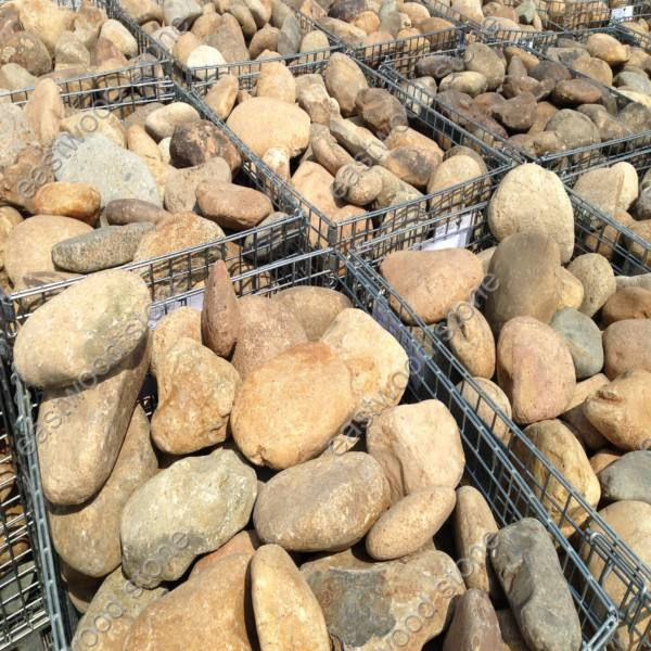natural unpolished river rocks