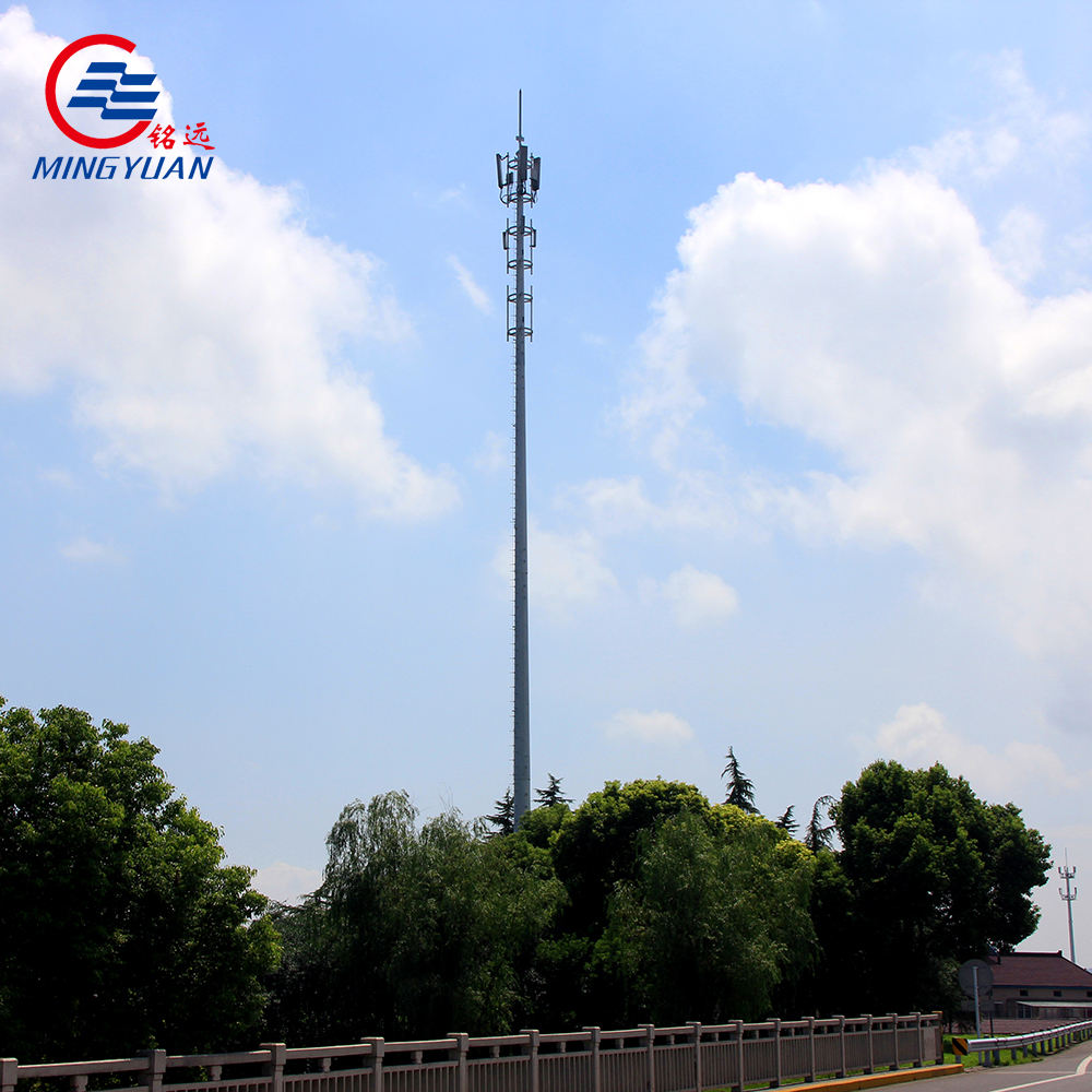wholesale hot dip galvanized high quality telecommunication steel monopole tower