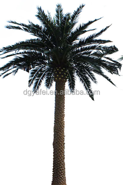 Galvanized steel artificial outdoor palm plants tree with fiber glass tree bark