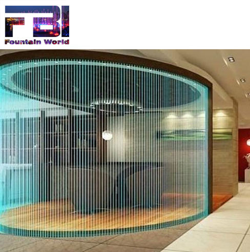 decorative indoor customized falling rian curtain water music fountains indoor room divider fountains