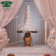 Modern event party decoration round shaped glass cake table wedding