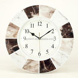 16 Inch Home Decor Stone Effect Plastic Frame Wall Clock